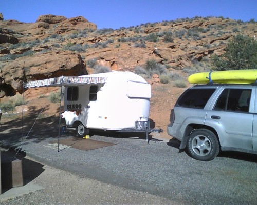 Campsite at Red Cliffs Preserve, north of Saint George, UT